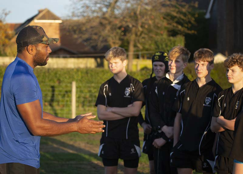 Bath and England Rugby Player Coaches at Dauntsey's